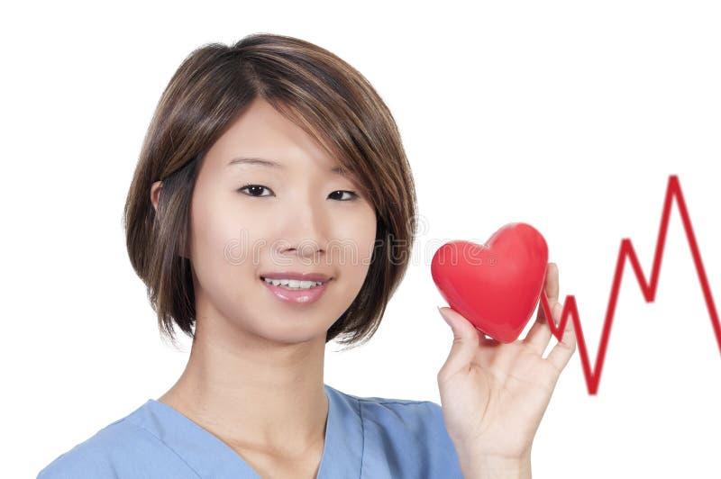 Vrouwelijke Cardioloog stock foto's