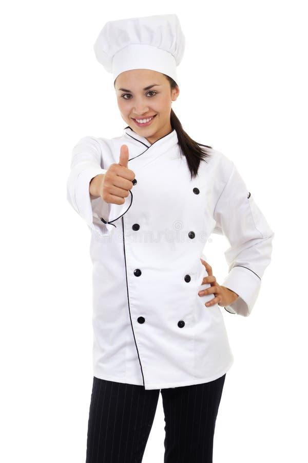 Vrouwelijke Chef-kok stock afbeelding
