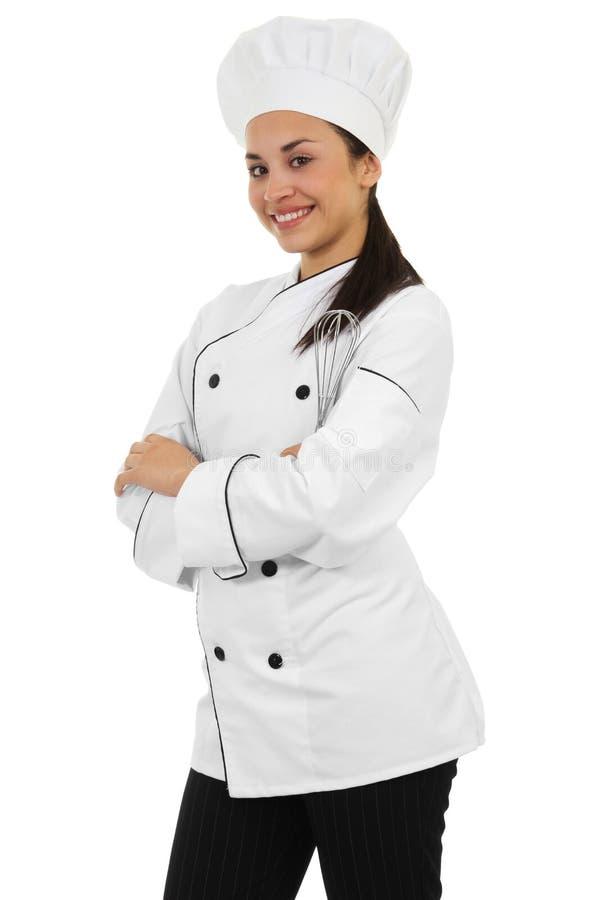 Vrouwelijke Chef-kok stock foto's