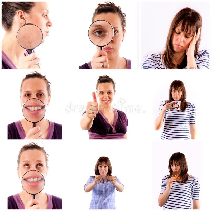 Vrouwelijke collage stock foto's
