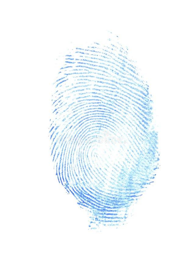 Vrouwelijke duimaf:drukken stock afbeelding
