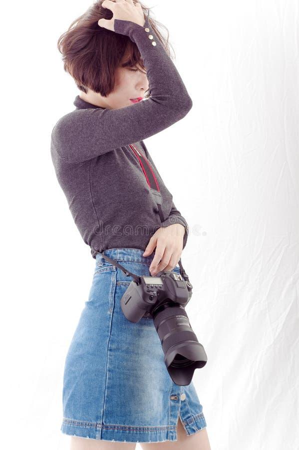 Vrouwelijke Fotograaf royalty-vrije stock afbeeldingen