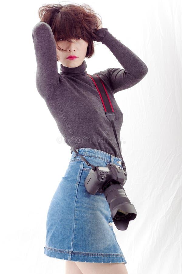 Vrouwelijke Fotograaf stock fotografie
