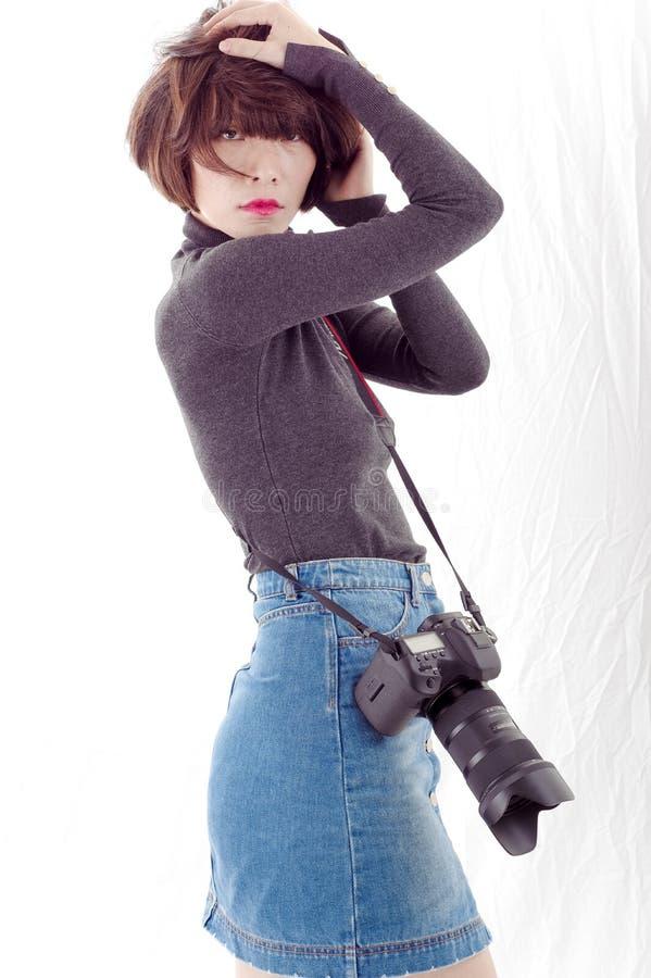 Vrouwelijke Fotograaf stock afbeelding