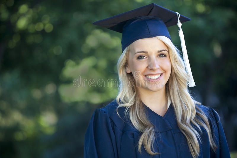 Vrouwelijke Gediplomeerde royalty-vrije stock afbeelding
