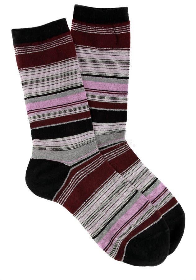Vrouwelijke gestreepte sokken royalty-vrije stock fotografie