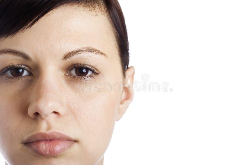 Het gezicht van jonge vrouwen royalty-vrije stock afbeelding