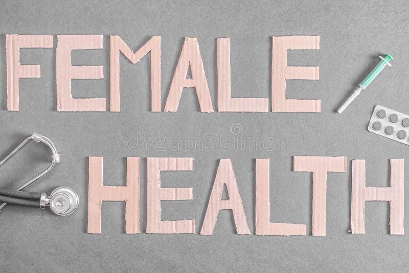 Vrouwelijke gezondheid stock foto