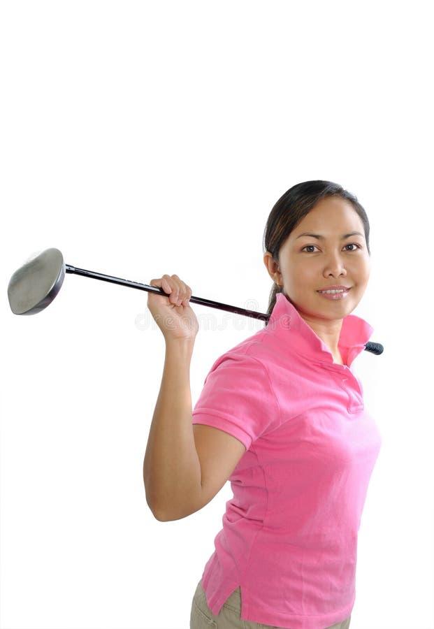 Vrouwelijke golfspeler royalty-vrije stock foto's