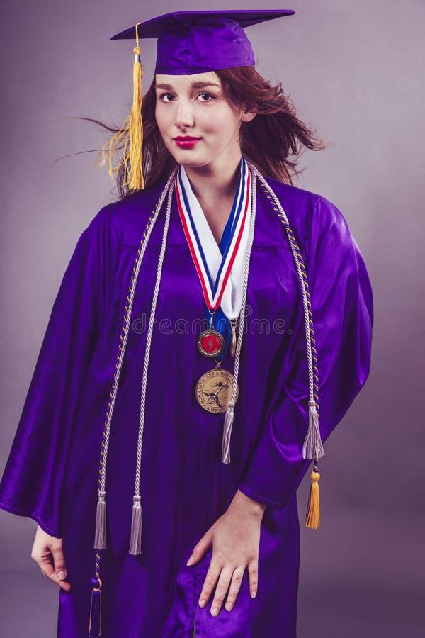 Vrouwelijke Graduatie stock foto's
