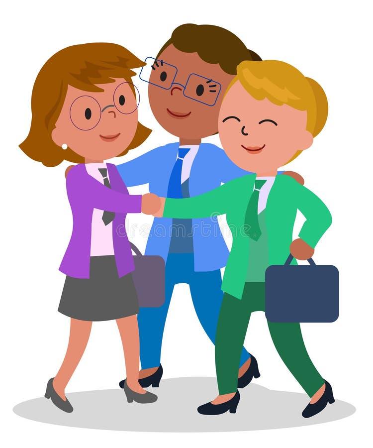 Vrouwelijke groepswerkvector stock illustratie