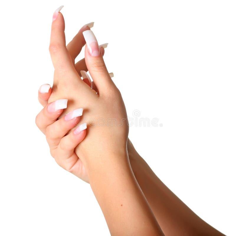 Vrouwelijke handen royalty-vrije stock afbeelding