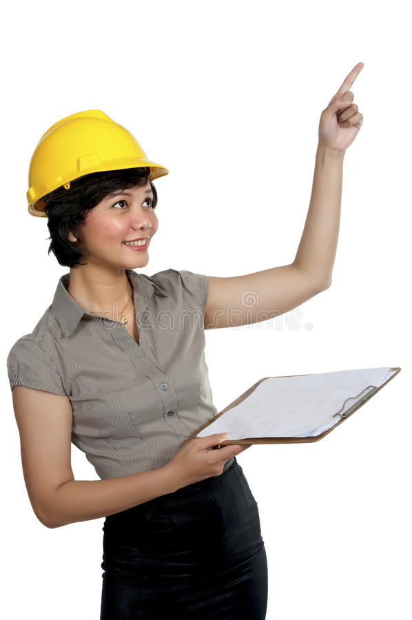 Vrouwelijke Ingenieur stock afbeelding