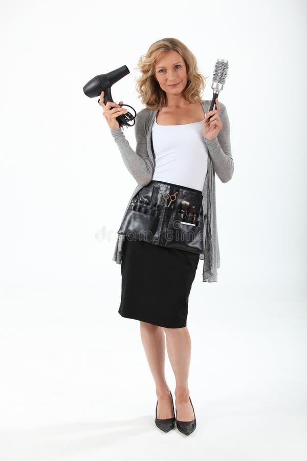 Vrouwelijke kapper stock foto's