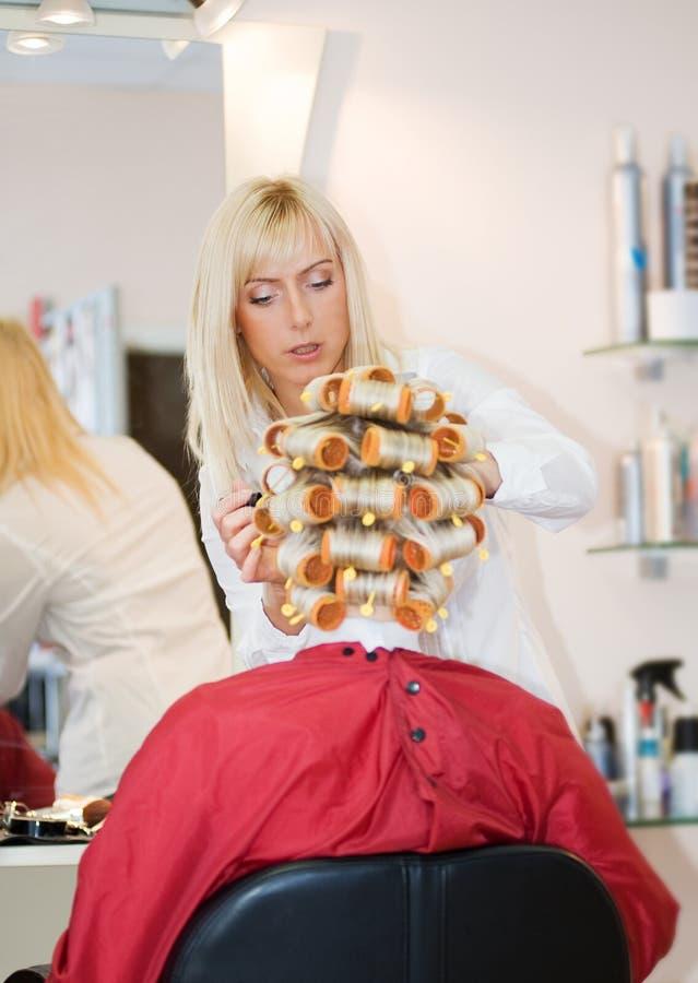 Vrouwelijke kapper stock fotografie