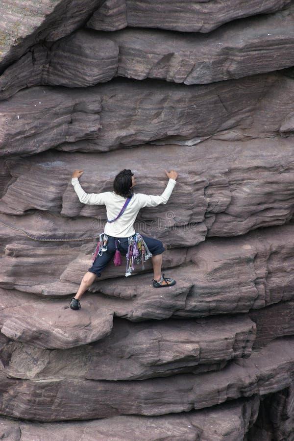 Vrouwelijke Klimmer stock afbeelding