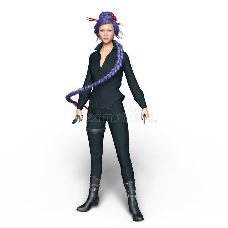 Vrouwelijke ninja stock afbeeldingen