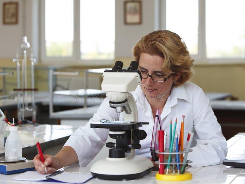 Vrouwelijke onderzoeker royalty-vrije stock foto's