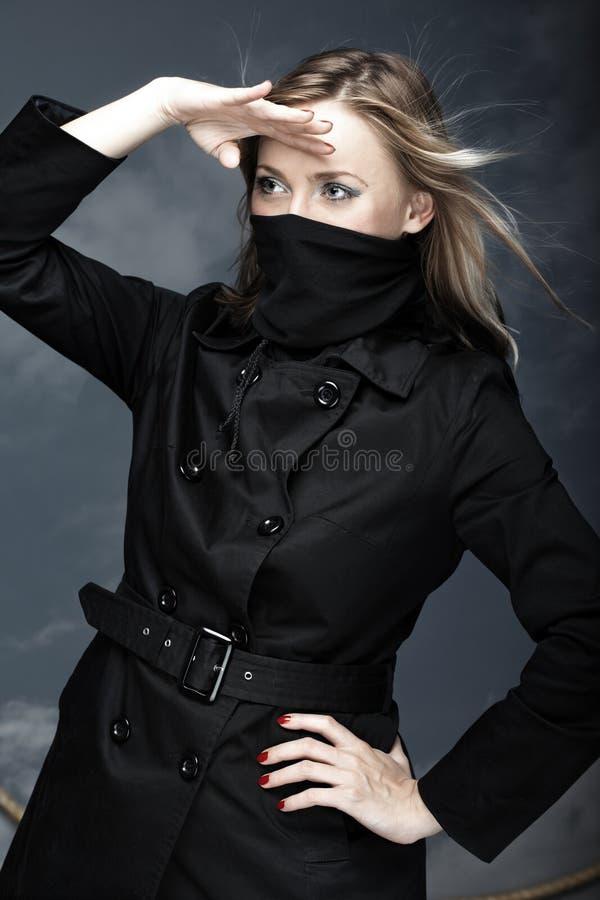 Vrouwelijke piraat stock afbeelding