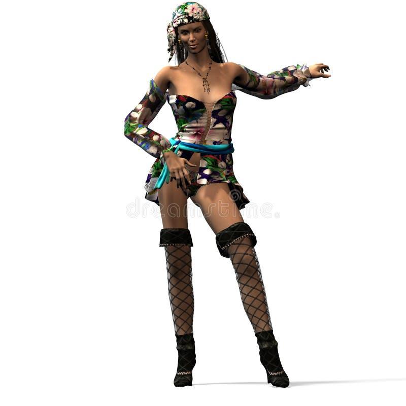 Vrouwelijke piraat Nr 2 royalty-vrije illustratie