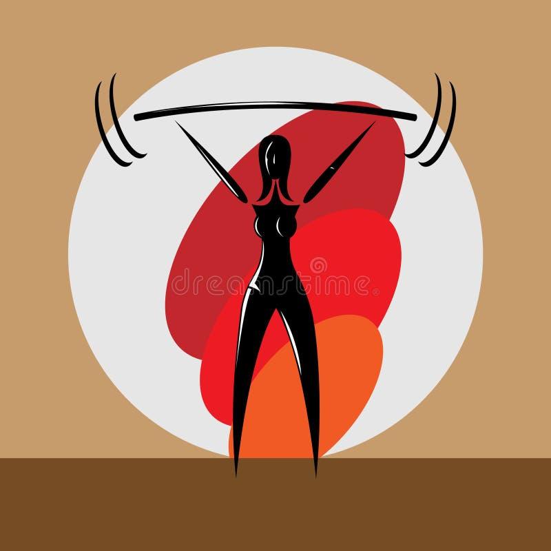 Vrouwelijke Powerlifter royalty-vrije illustratie