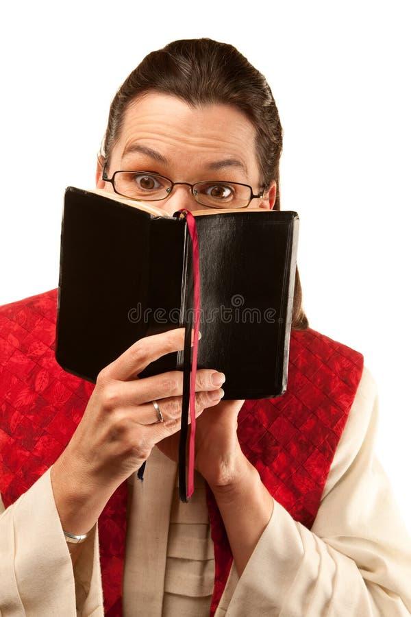 Vrouwelijke prediker stock fotografie