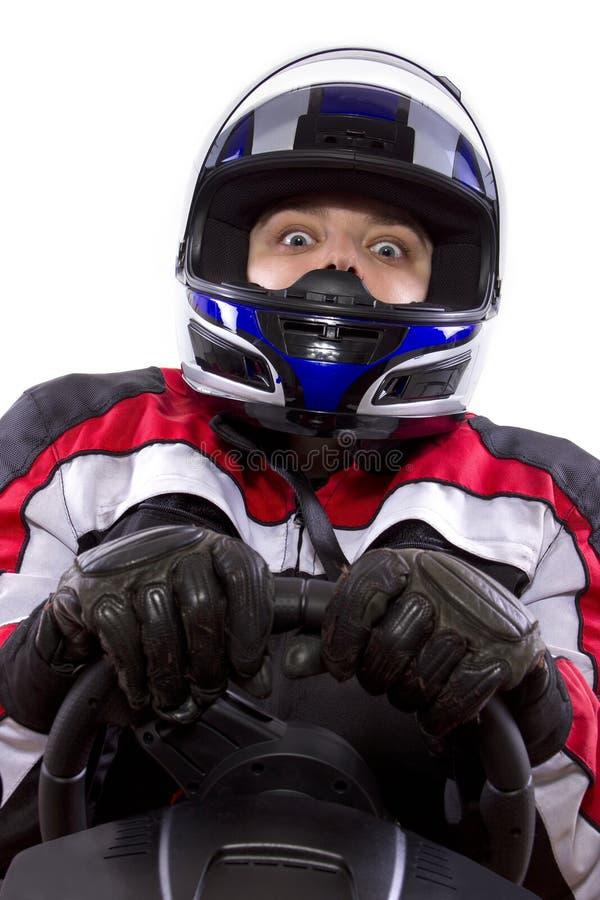 Vrouwelijke Raceauto stock foto