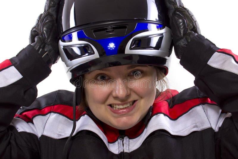 Vrouwelijke Raceauto stock foto's