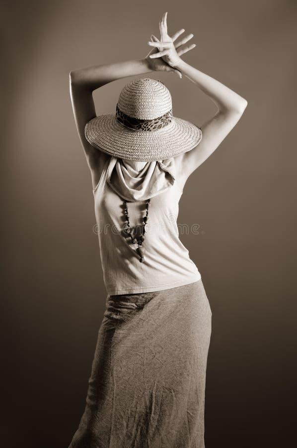 Vrouwelijke retro manier royalty-vrije stock fotografie