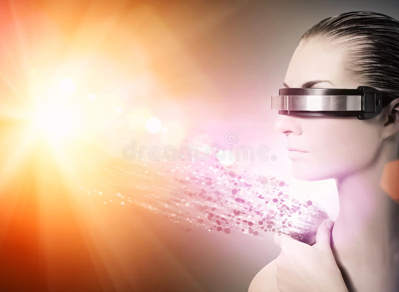 Vrouwelijke robot royalty-vrije stock afbeelding