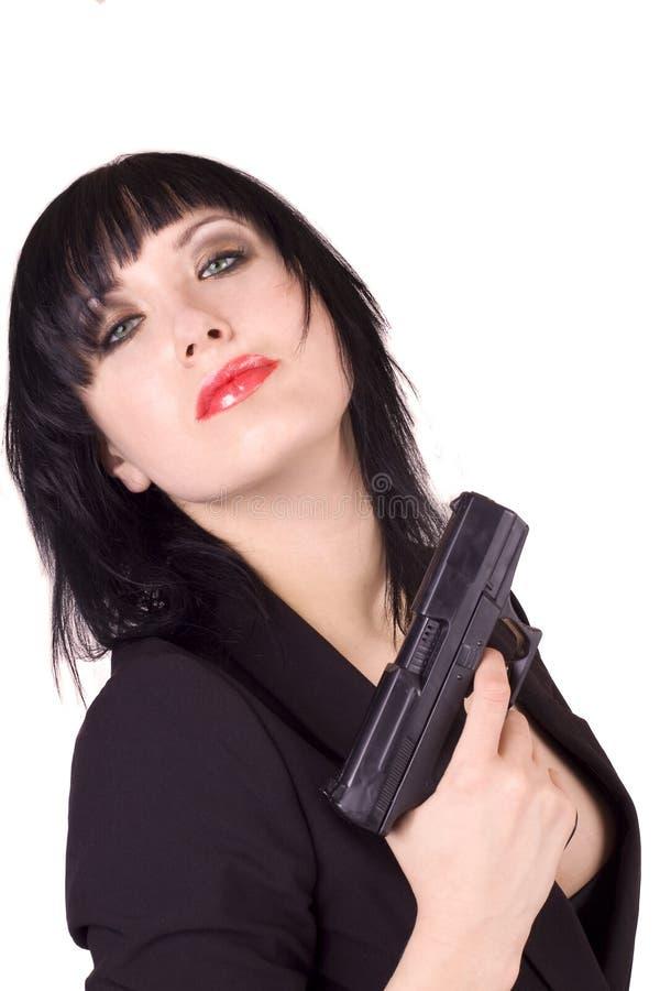 Vrouwelijke Russische agent stock foto's