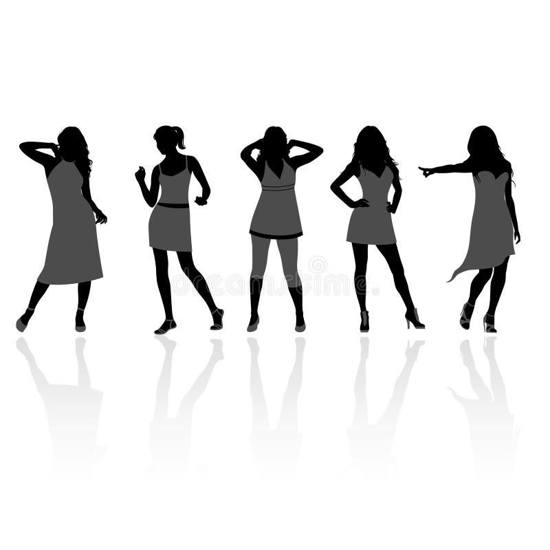 Vrouwelijke silhouetten vector illustratie