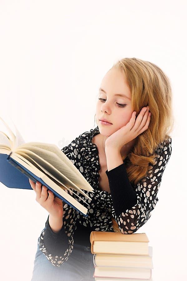Vrouwelijke student met boeken royalty-vrije stock fotografie