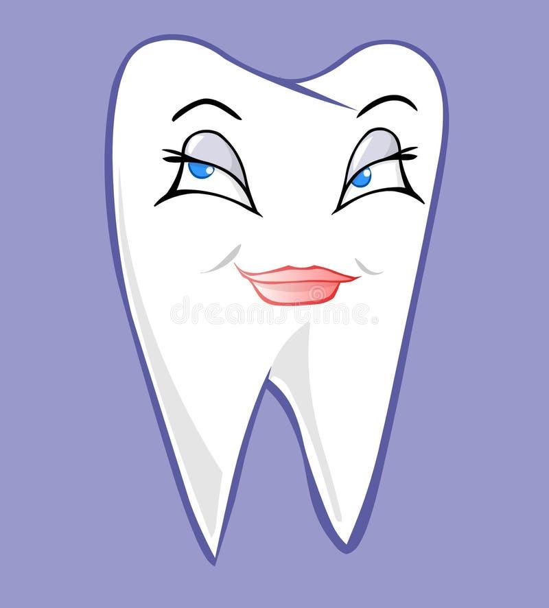 Vrouwelijke tand vector illustratie