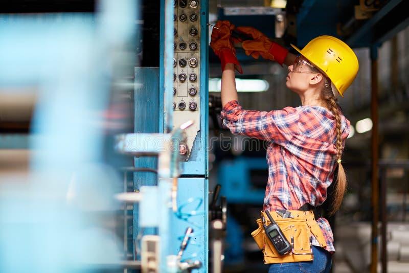 Vrouwelijke technicus stock foto