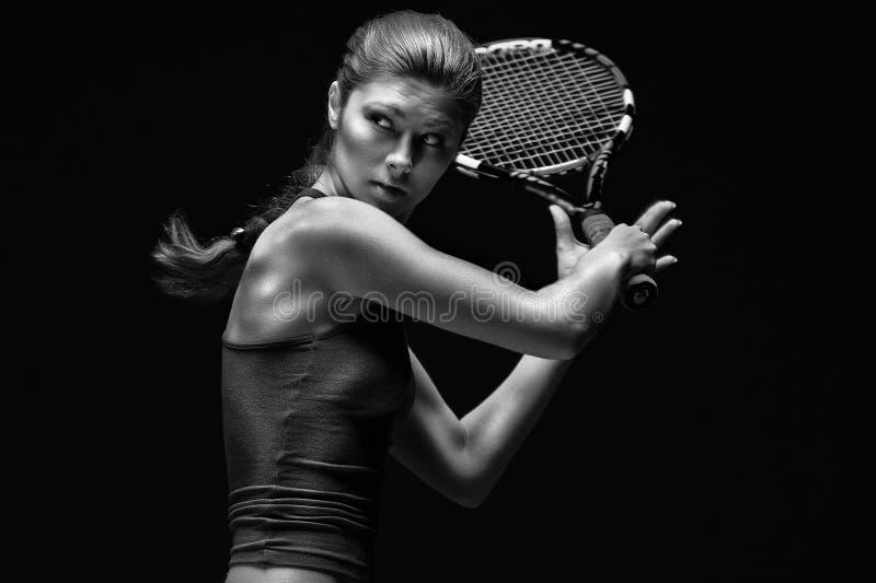 Vrouwelijke tennisspeler stock foto