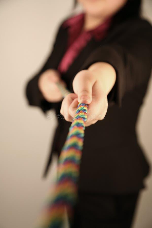 Vrouwelijke trekkende kabel royalty-vrije stock foto