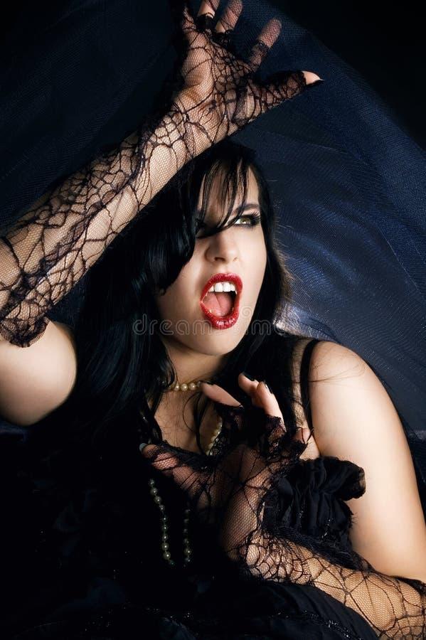 Vrouwelijke vampier stock afbeeldingen