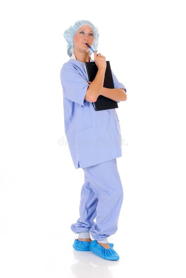 Vrouwelijke verpleegster arts royalty-vrije stock foto's