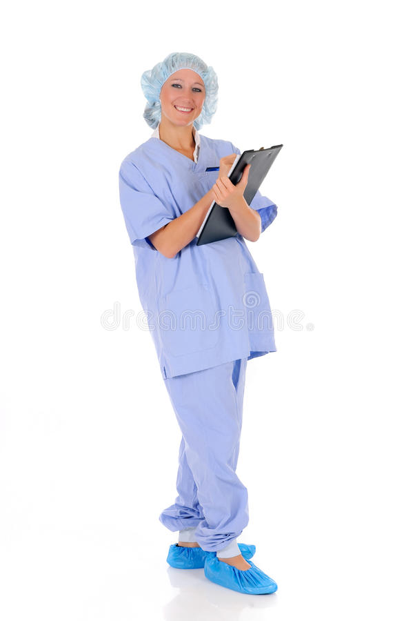 Vrouwelijke verpleegster arts royalty-vrije stock afbeeldingen