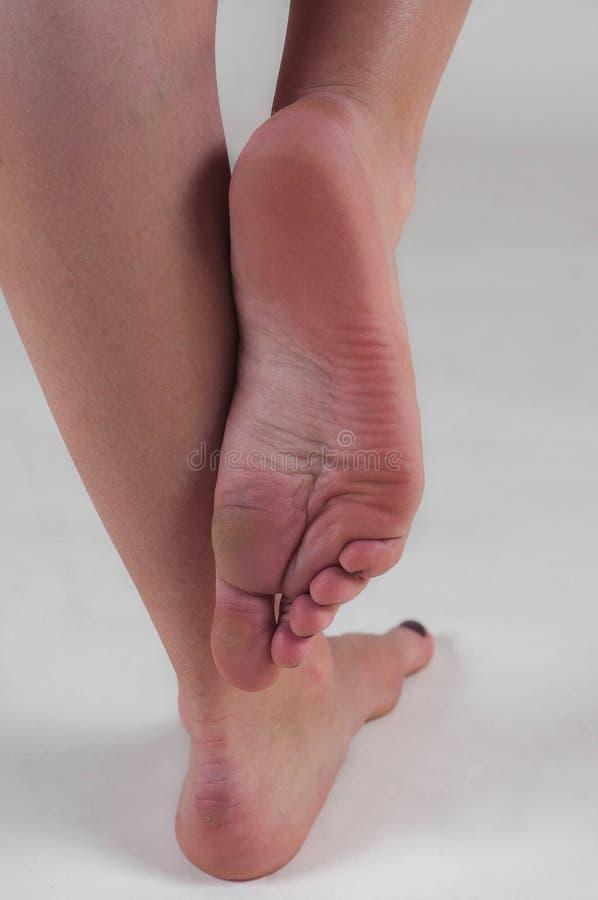 Vrouwelijke voeten royalty-vrije stock afbeelding