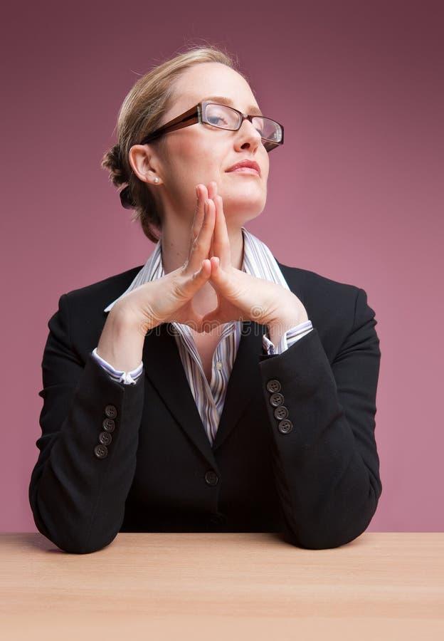 Vrouwelijke werkgever royalty-vrije stock foto's
