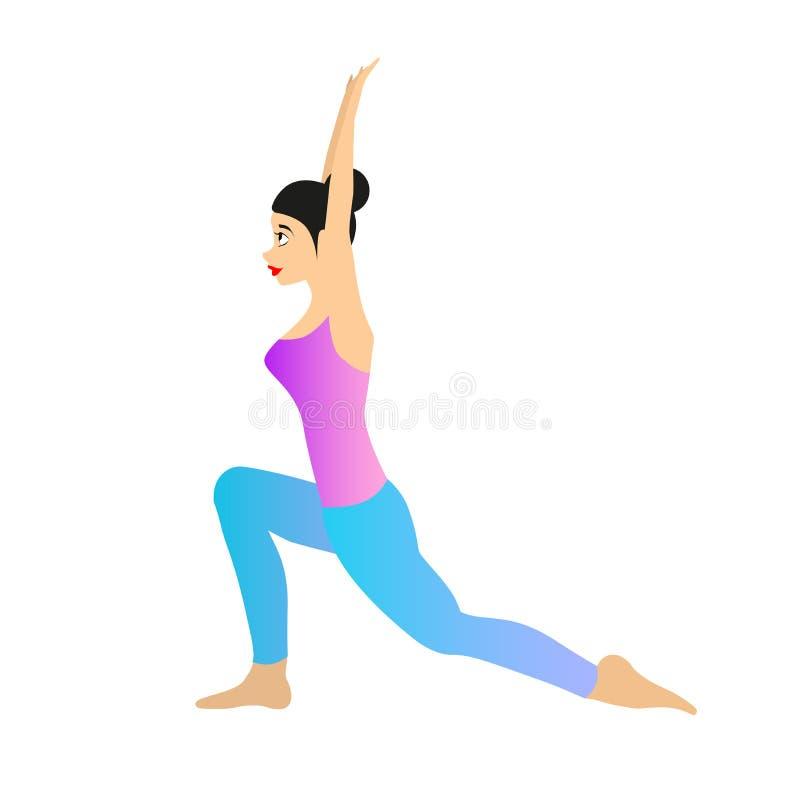 Vrouwelijke Yoga Vectorillustratie stock illustratie