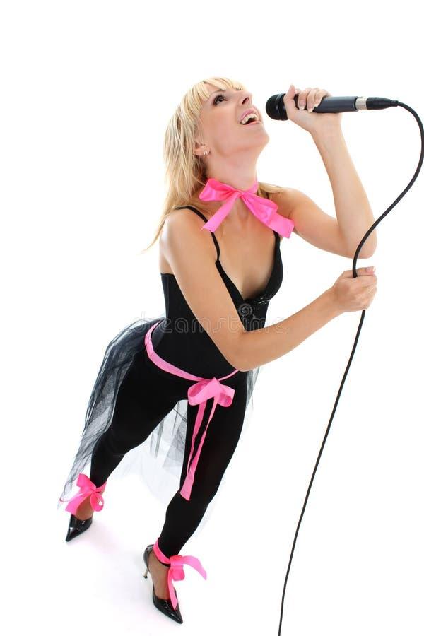 Vrouwelijke zanger stock afbeeldingen