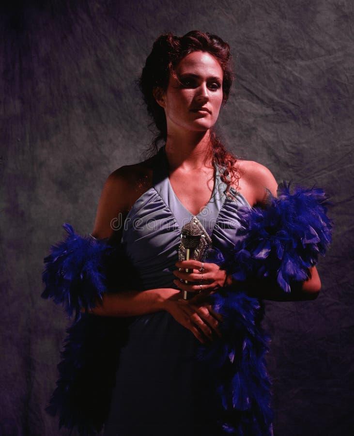 Vrouwelijke zanger royalty-vrije stock fotografie