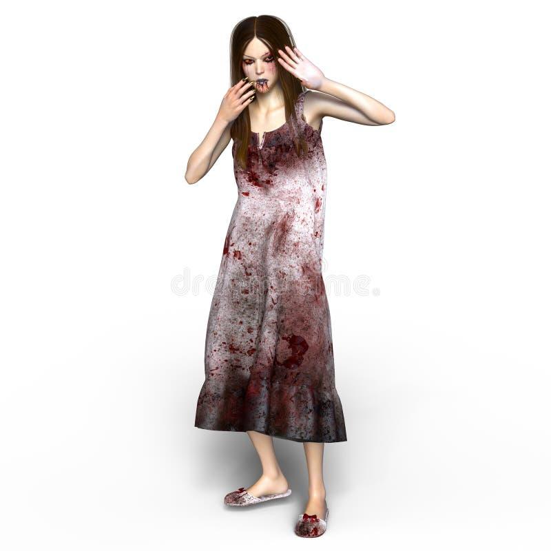 Vrouwelijke zombie royalty-vrije stock afbeeldingen