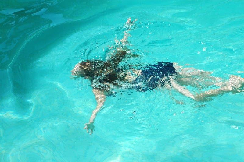 Vrouwelijke zwemmer royalty-vrije stock foto
