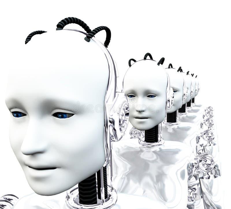 Vrouwen 2 van de robot stock illustratie
