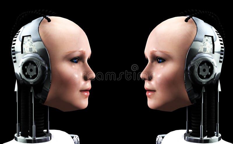Vrouwen 3 van de robot royalty-vrije illustratie