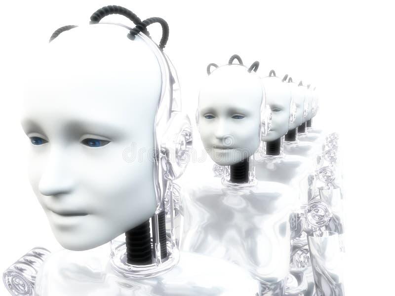 Vrouwen 5 van de robot royalty-vrije illustratie